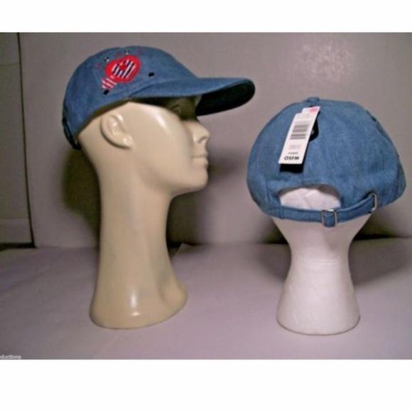 Womens Blue Patriotic Hat Baseball Cap w  Heart 24e28c582d